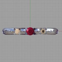 ブラウンダイアモンドを入れたときのルビー指輪のイメージ