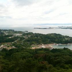 亀山から大島を見た景色