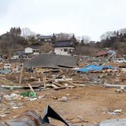 災害直後の大島の様子