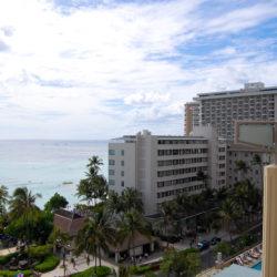 ホテルのベランダからの眺め