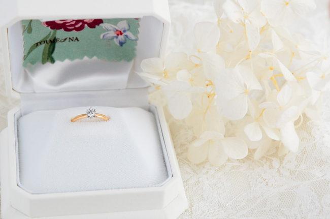 妹の婚約指輪 - リングケースに入れ