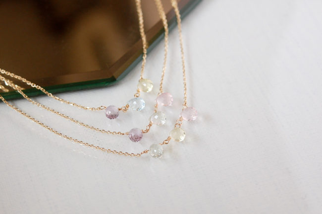 Pastel Berry Necklace - Peacock, Lilac, and Aurora -