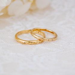 入籍日である11月22日のデザイン数字の結婚指輪