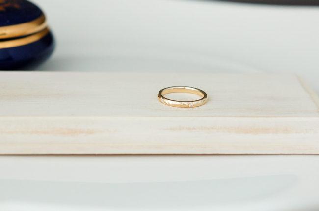 サンプルでお作りしたリングをピンキーにサイズ直し♪