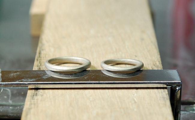 結婚指輪の鋳造後