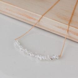ハーキマーダイヤモンド K18 ネックレス
