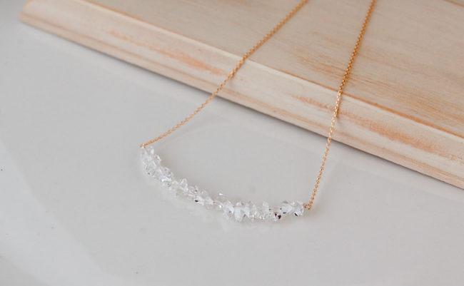 ハーキアーダイヤモンド K18 ネックレス