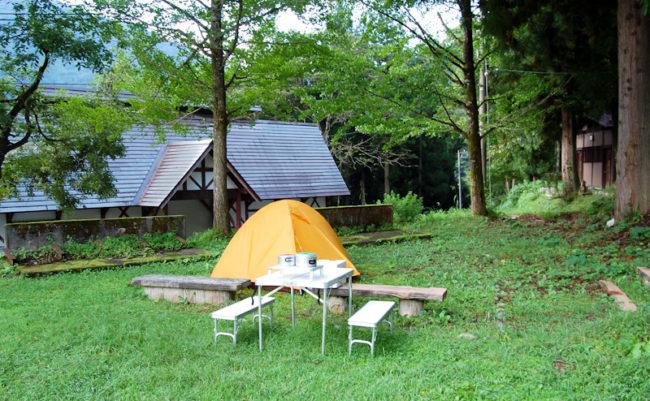 五箇山キャンプ場でキャンプ