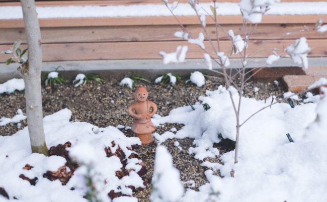 庭の埴輪さん
