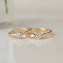 ダイヤモンドリングをアンティーク調デザインにリフォーム