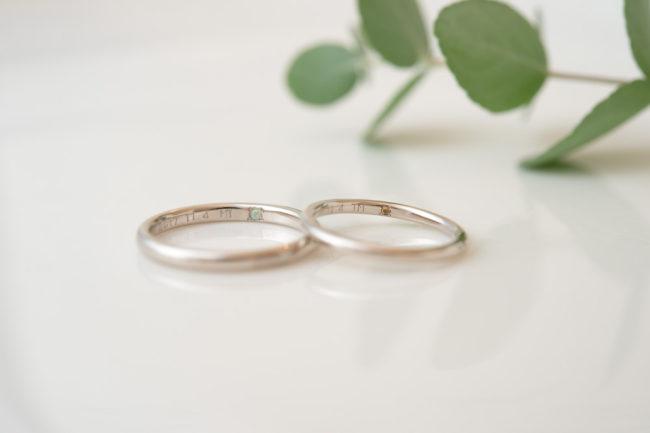 K18WGのシンプルな結婚指輪