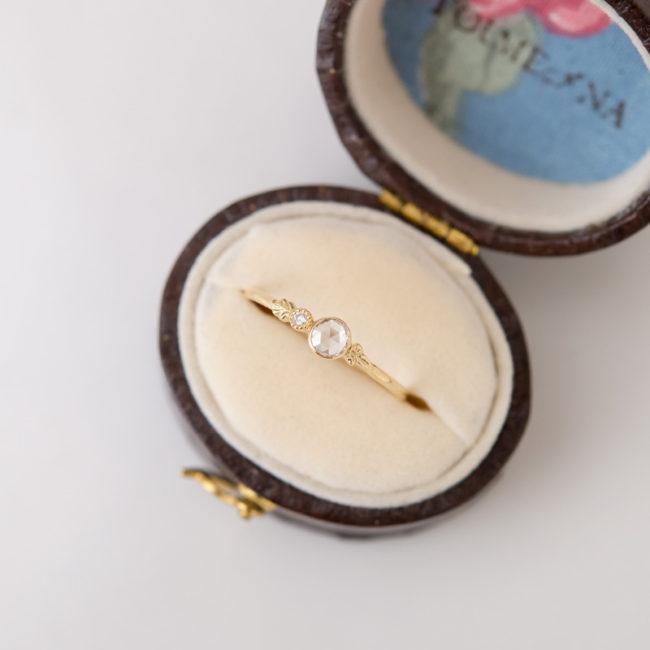 【1点もの】ロコ ローズカット ダイヤモンド K18 リング
