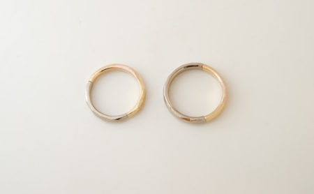 ふたりでつくる結婚指輪 鋳造後