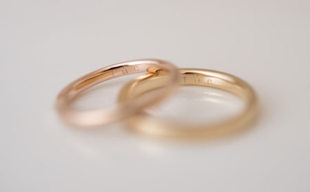 リボンのような結婚指輪