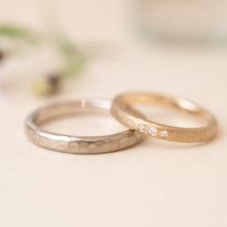 コーヒーカップと音符のオリジナル結婚指輪