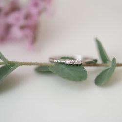ピンクダイヤモンドのプラチナリング