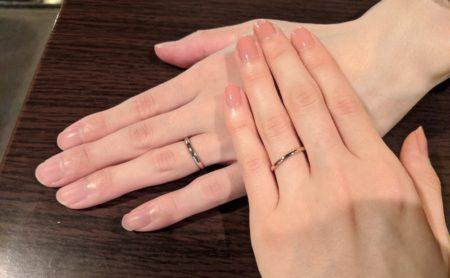 包み込むような結婚指輪