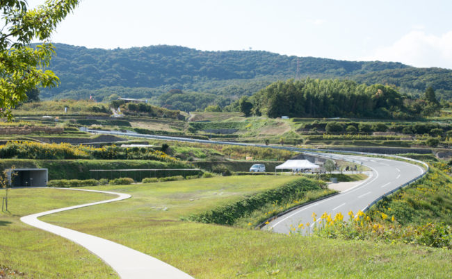 豊島美術館から見た景色