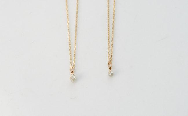 ナチューレ グレーダイヤモンド ネックレス