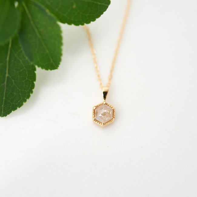 【1点もの】ナチュラルダイヤモンド ヘキサゴン K18 ネックレス