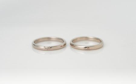 流れ星と太陽のK18WG結婚指輪